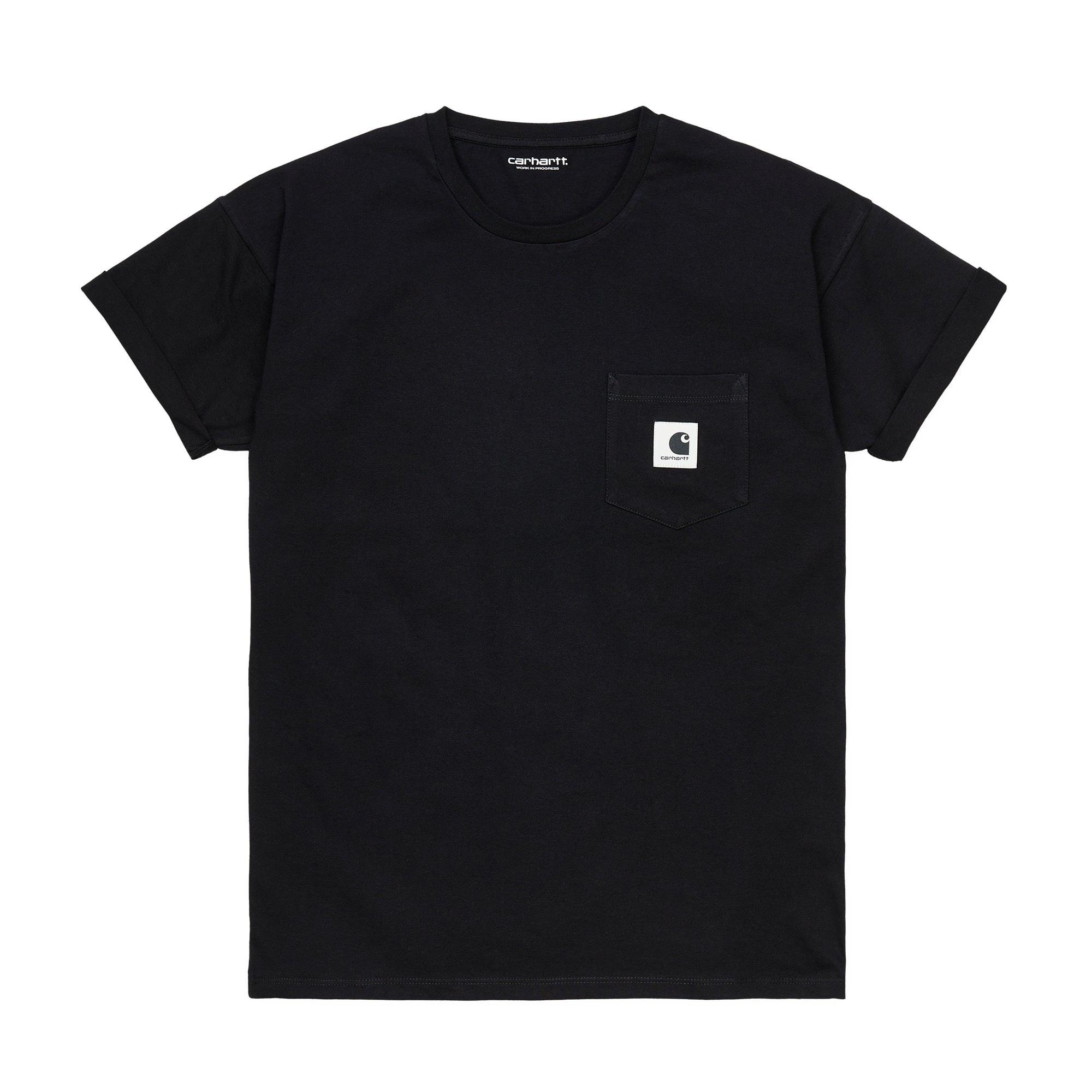 Carhartt WIP Womens Pocket T-Shirt: Black - The Union Project