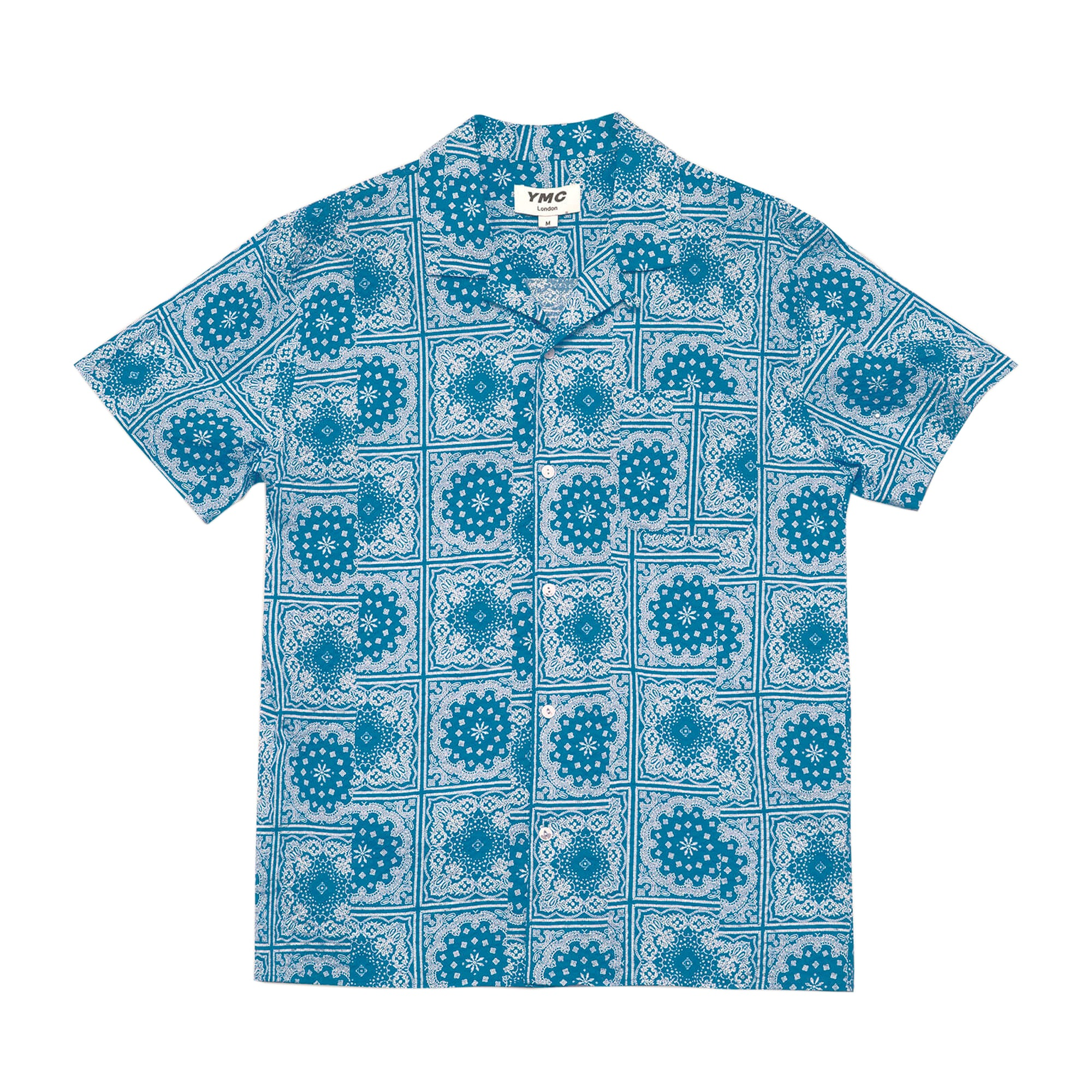 YMC Malick Bandana Print Shirt: Blue - The Union Project