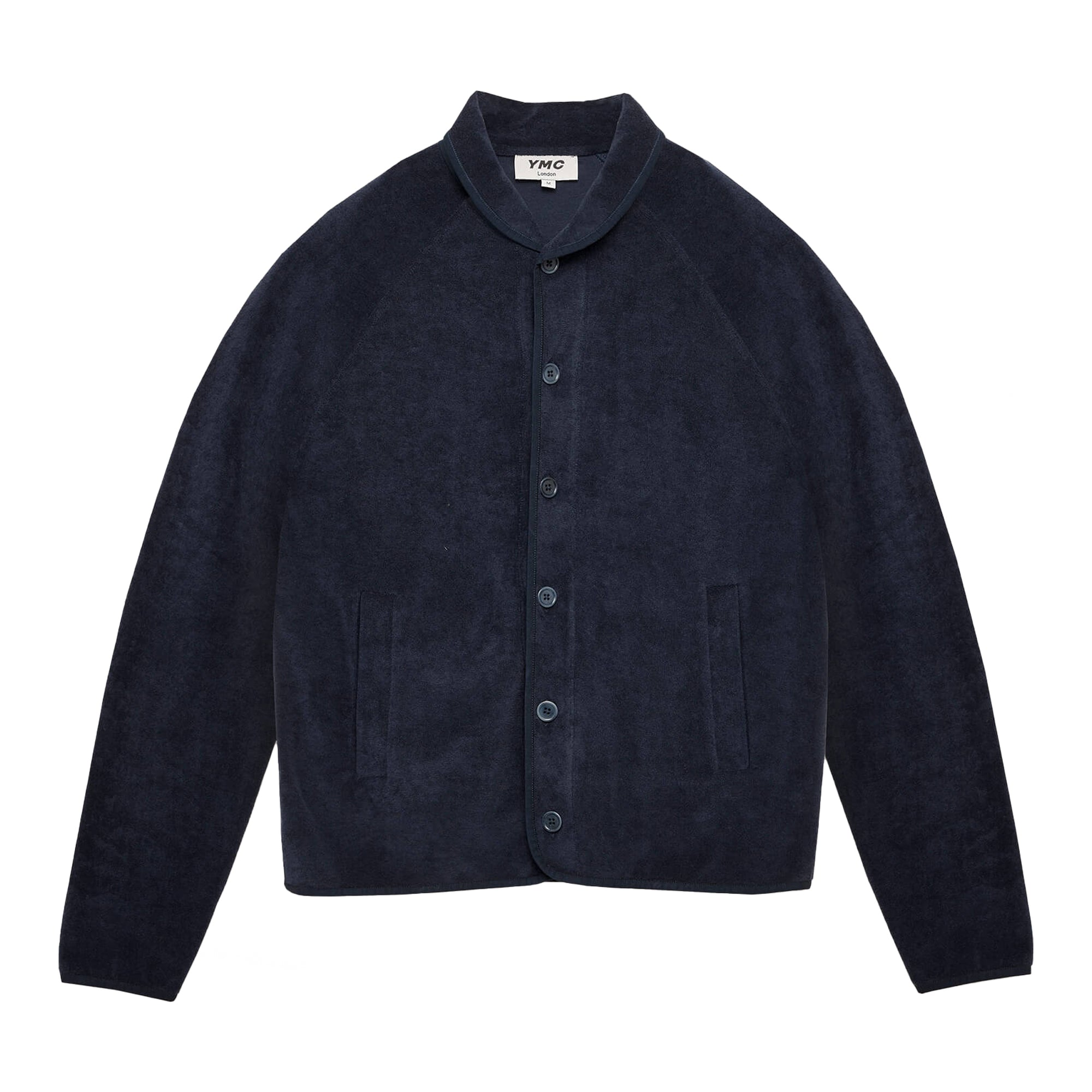 YMC Beach Jacket Towelling: Navy - The Union Project
