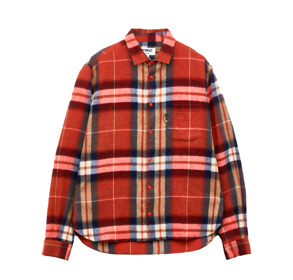 YMC Curtis Shirt: Red Check - The Union Project