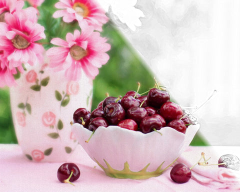 Cherries & Flowers