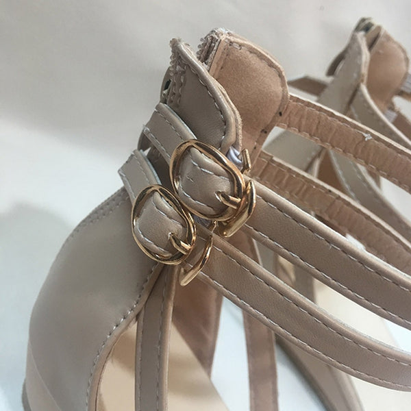 Women's Casual Buckle Ankle Strap Sandals