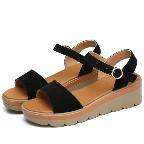 Suede Leather Casual Ladies Sandal - Nads Shoes