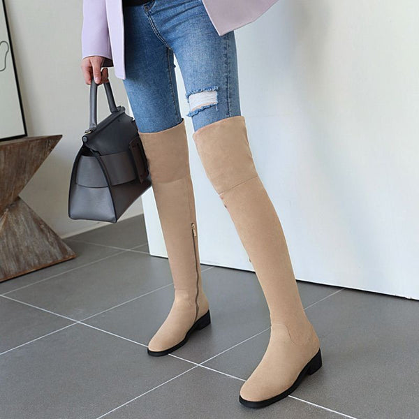 Comfortable High Quality Flat Boots - Nads Shoes