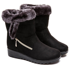 Warm Plush Ankle Snow Boots - Nads Shoes