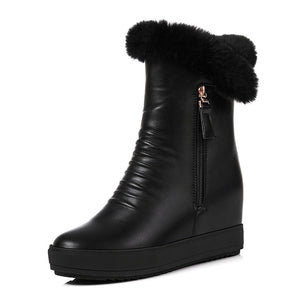 Waterproof Winter Fur Snow Boots - Nads Shoes