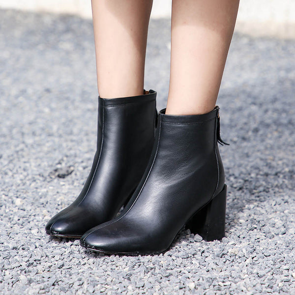 Ladies Genuine Leather Chelsea Boots - Nads Shoes
