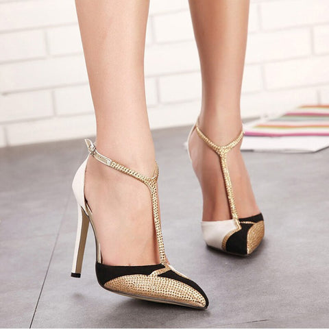 High Heel Luxury Rhinestone Party Shoes