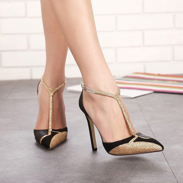 High Heel Luxury Rhinestone Party Shoes - Nads Shoes