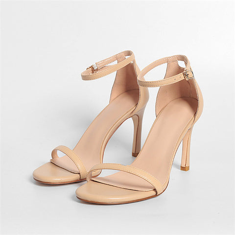 High Heel Sandals With Buckle Strap - Nads Shoes