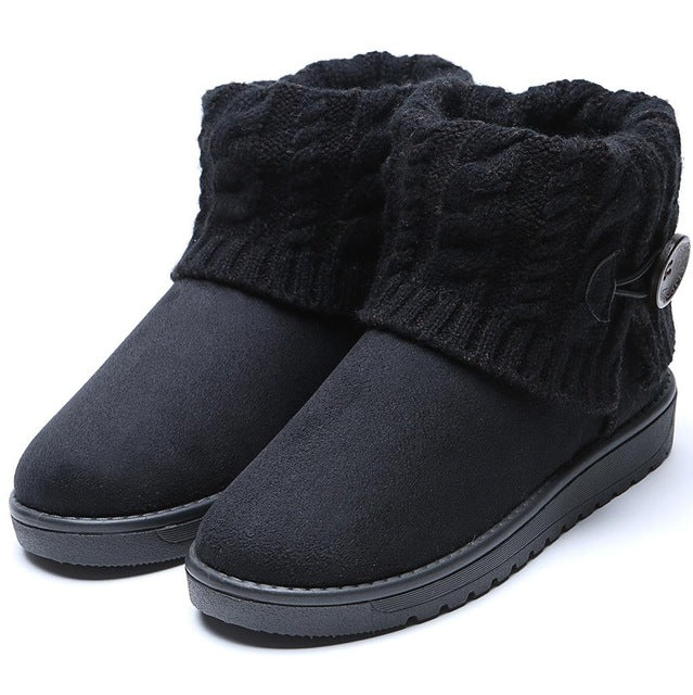 Woolen Ankle Snow Boots for Woman - Nads Shoes