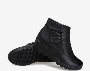 Genuine Leather Winter Snow Boots - Nads Shoes