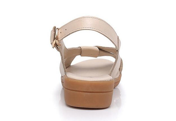 Genuine Leather Flat Sandals - Nads Shoes