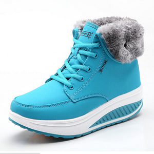 Women's Wedge Ankle Snow Boots - Nads Shoes