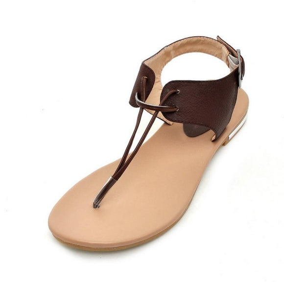 Genuine Leather Flat Beach Sandals