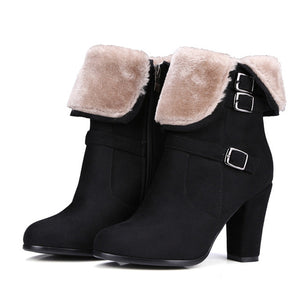Ankle Winter Boots With Zipper - Nads Shoes