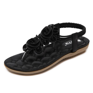 Comfortable Flat Heel Thong Summer Sandals - Nads Shoes