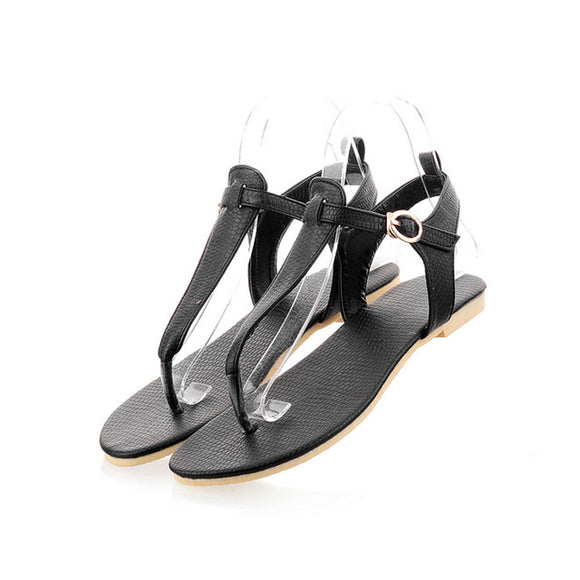 Summer Flat Ankle Strap Thong Sandals - Nads Shoes