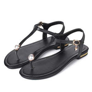 Genuine Leather Womens Flat Sandals