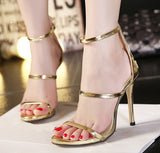 Strappy Open Toe Ankle Strap Sandals - Nads Shoes