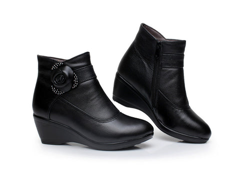 Women's Genuine Leather Winter Boots - Nads Shoes