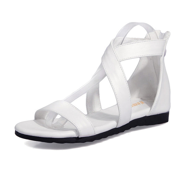 Women's Open Toe Zipper Summer Sandals - Nads Shoes