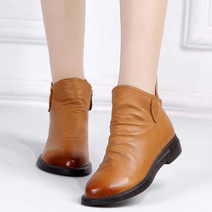 British Style Genuine Leather Ankle Boots - Nads Shoes
