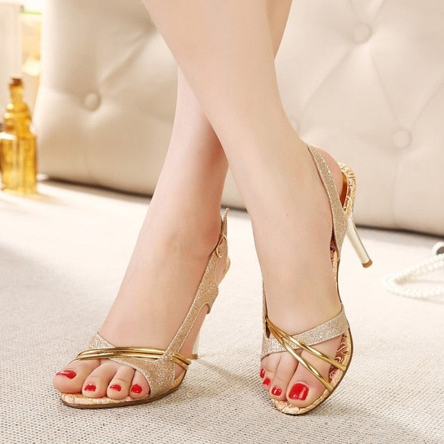 Hollow Out Thin Ladies High Heel Sandals - Nads Shoes