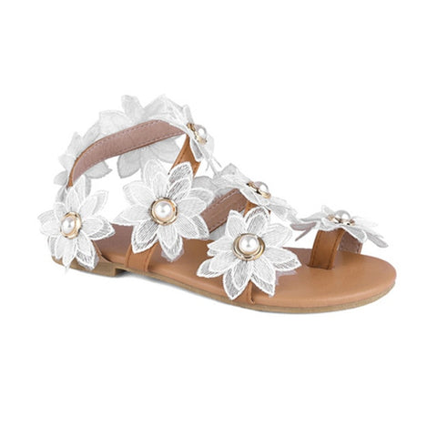 Floral Bohemian Style Summer Sandals - Nads Shoes