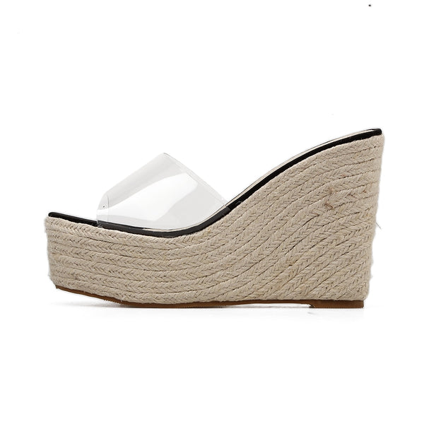 Slip On Platform Wedge Ladies Sandals - Nads Shoes