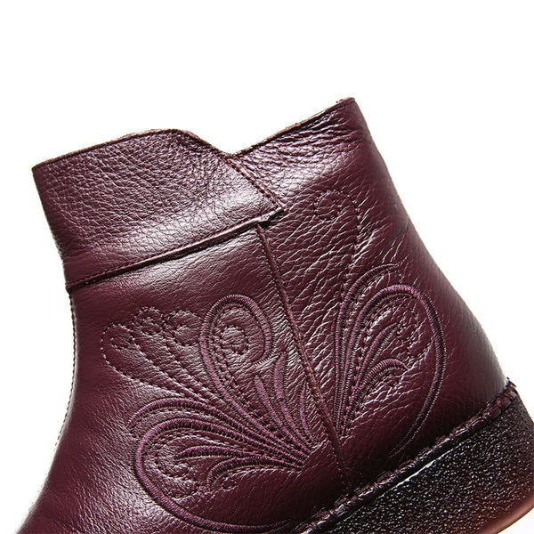Stylish Soft Genuine Leather Ladies Booties - Nads Shoes
