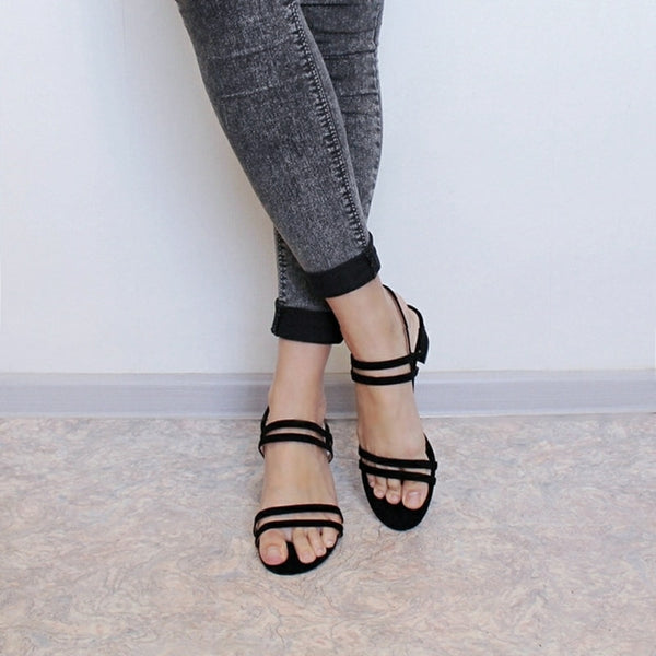 Women's Fashion Summer Square High Heel Sandal - Nads Shoes
