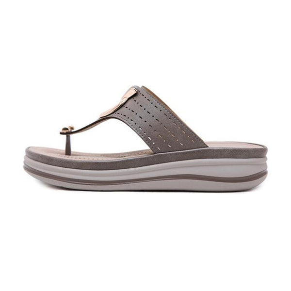 Ladies Flip Flop Leather Slipper - Nads Shoes
