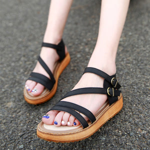 Thick Bottom Women's Leather Sandals