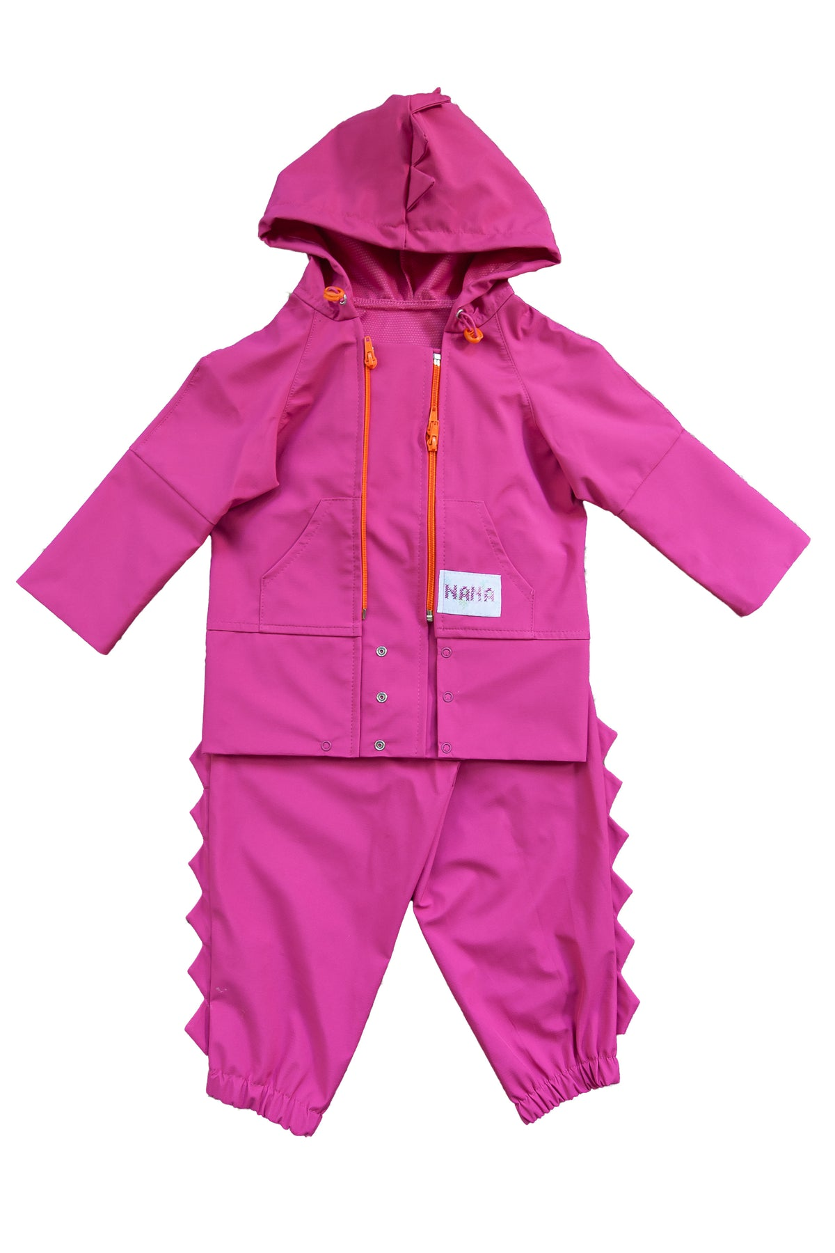 Kids Softshell Dungarees Pink Carry Me Wear With Hood 10