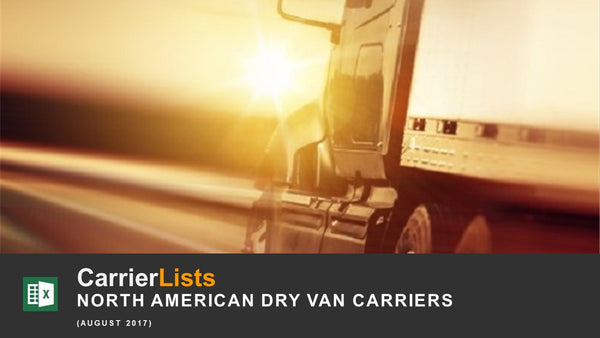 North American Dry Van Carriers -15k Edition - 7,500 fleets