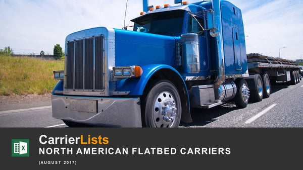 2,600 Flatbed Carriers based in the USA and Canada