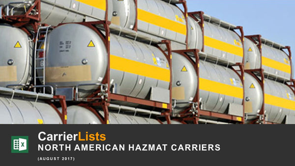North American Hazmat Carriers - 1,900 carriers
