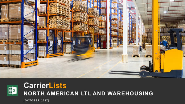 LTL & Warehousing Carriers Based in the USA and Canada - 750 carriers