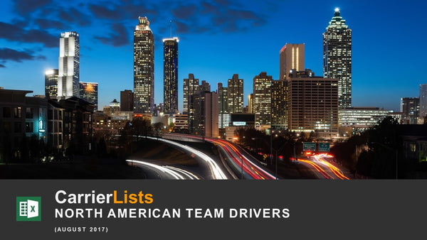 North American Team Drivers - 1,800 carriers
