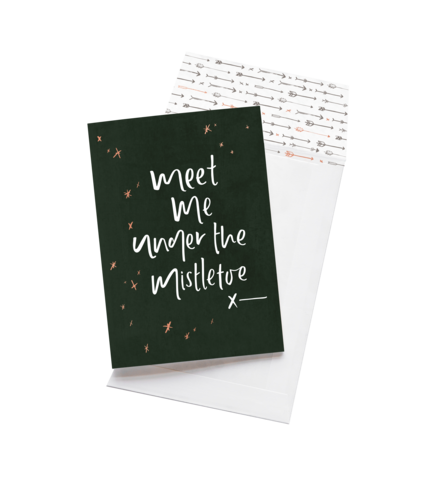 Greeting Card - Meet Me Under The Mistletoe