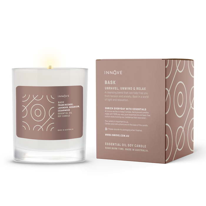 Essential Oil Soy Candle - Bask