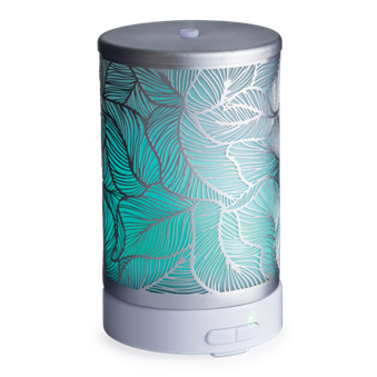 Ultrasonic Aroma Diffuser - Silver Leaf