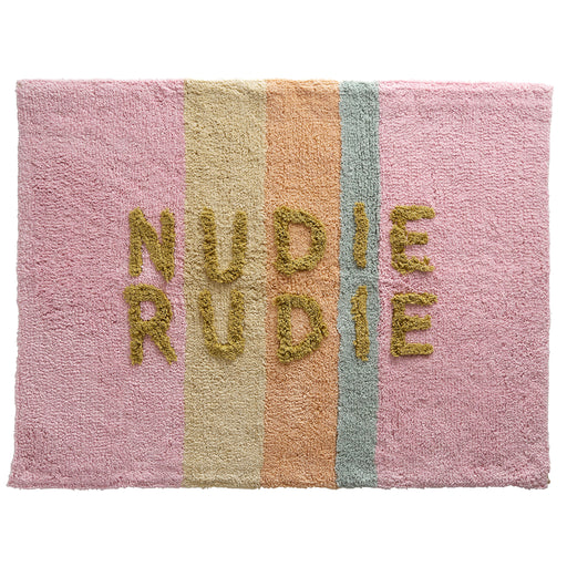 Tula 'Nudie Rudie' Bath Mat - Bubblegum Stripe