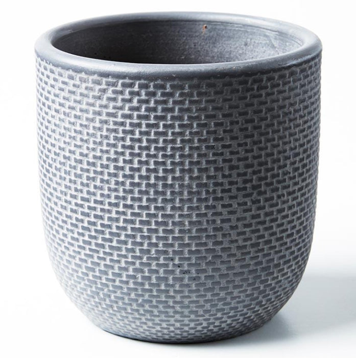 Tweed Pot - Charcoal, Small