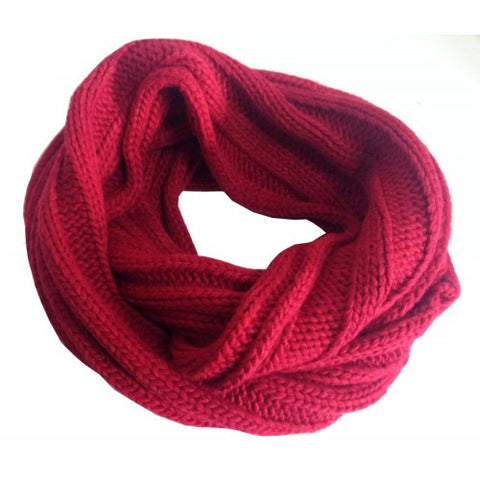 Snood Ribbed Wine