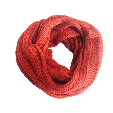 Snood Ribbed Rust