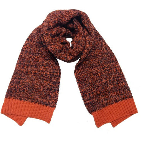 Scarf 2 Tone Navy/Rust with Rust Band