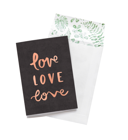Greeting Card - Love, Love, Love