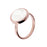 Alba Mother of Pearl White Disc Ring - Size 14